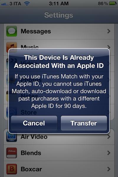 iOS Match