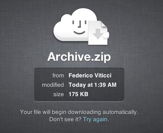iCloud links